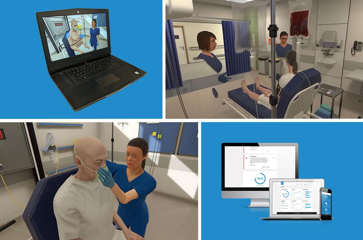 Online distance medical and nursing simulation